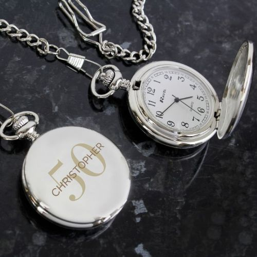 Birthday Big Age Pocket Fob Watch